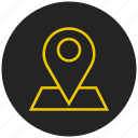 gps, locate, location marker, location pin, location tracker, map, place icon