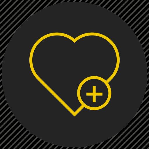 add favorite, heart, like, love, mark icon