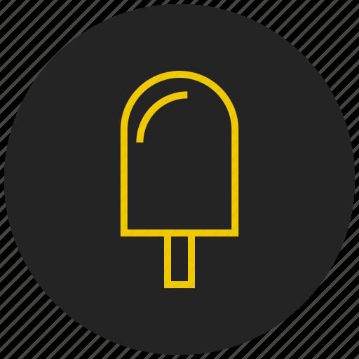 desert, ice, ice cream, popstick, stick, sweet icon