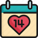 14th, calendar, date, event, holiday, reminder, valentine icon