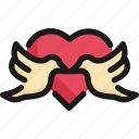 bird, couple, cute, heart, romantic, valentine, wedding icon