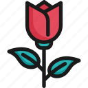 blossom, floral, flower, love, pink, rose, valentine icon