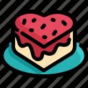 bakery, cake, dessert, food, homemade, strawberry, sweet icon