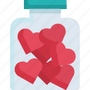 bottle, celebration, glamour, happy, heart, love, valentine icon