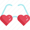 eyeglasses, fashion, heart, hipster, love, romantic, valentine icon