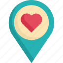 concept, heart, love, pin, romance, sign, valentine icon