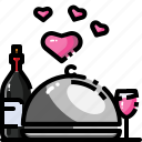 dinner, drink, lunch, restaurant, serve, waiter, wine icon