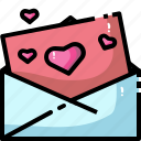 email, heart, letter, love, mail, message, send icon