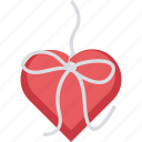 gift, gift box, heart, loving, romance icon