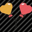 birthday, celebrations, decoration, heart balloon, valentine heart icon