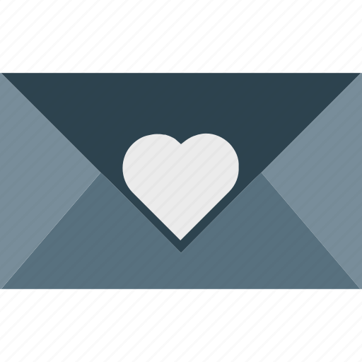 heart, letter, love, romantic, sign icon