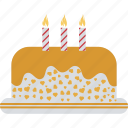 birthday cake, cake, candles cake, dessert, valentine day icon