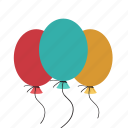 balloon, birthday balloon, decoration balloon, party balloon, party decorations icon