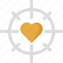 affection, feelings, heart focal point, heart focus, in love icon