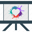 anniversary, board, celebration, heart, splash icon
