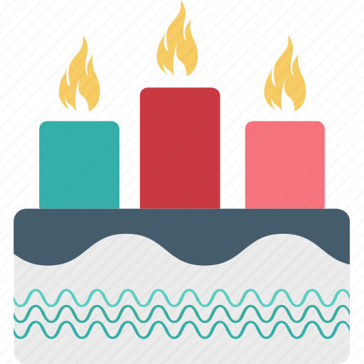 birthday cake, cake, candles cake, valentine day icon