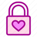 love, padlock, valentine icon