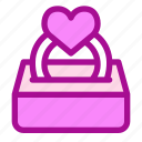 love, propose, ring, valentine icon