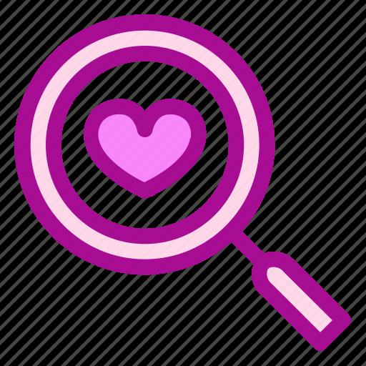love, search, valentine icon