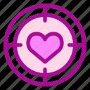 love, target, valentine icon