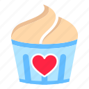 cupcake, date, desert, love, romance, sweet, valentine