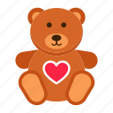 bear, date, day, gift, romance, teddy, valentine icon