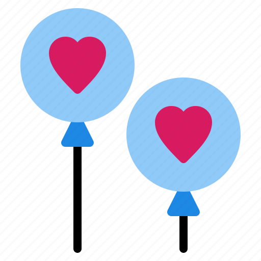 balloon, dating, love, valentine icon