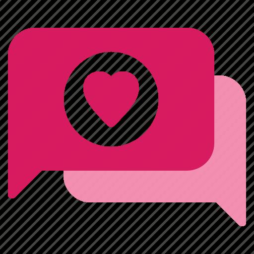chat, conversation, dating, love, valentine icon