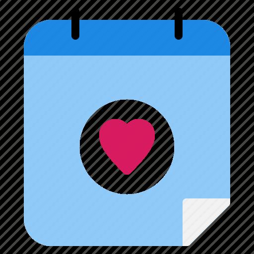 agenda, calendar, date, dating, love, valentine icon