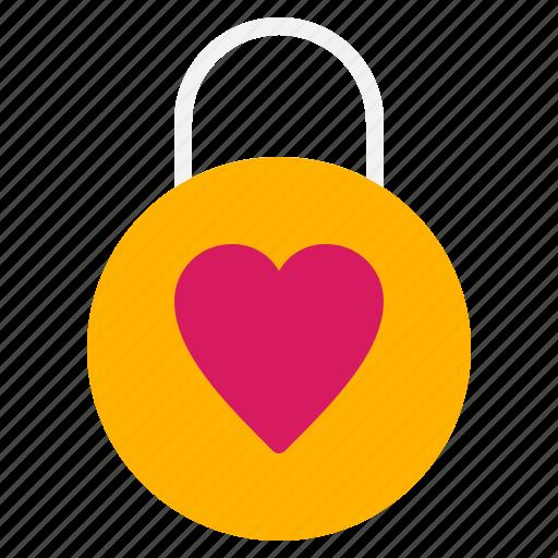 dating, lock, love, padlock, valentine icon
