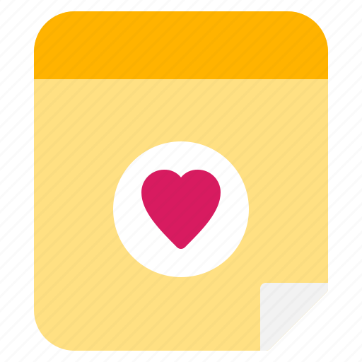 dating, love, note, pinned, valentine icon