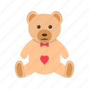 bear, teddy, toy, valentines gift icon