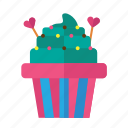 cupcake, food, love, sweet, valentine icon