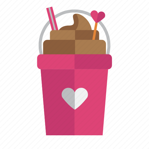 drink, float, food, love, valentine icon
