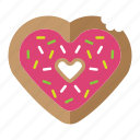 donut, food, love, pink, valentine icon