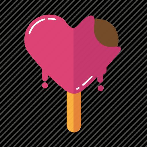 food, ice cream, love, strawberry, valentine icon