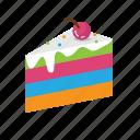 cake, food, rainbow, sweet, valentine