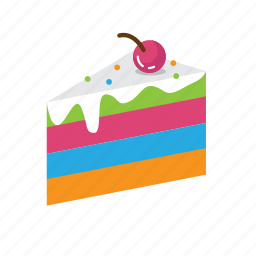 cake, food, rainbow, sweet, valentine icon