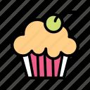cupcake, cake, love, heart, valentine