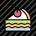 cherry, sweet, cake, food, fruit