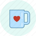 carnival, event, festive, mug, party, valentine icon