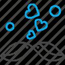 bird, heart, love, valentine