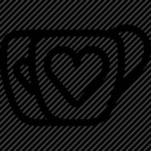 cups, drinks, hearts, love, romance, valentine, yumminky icon