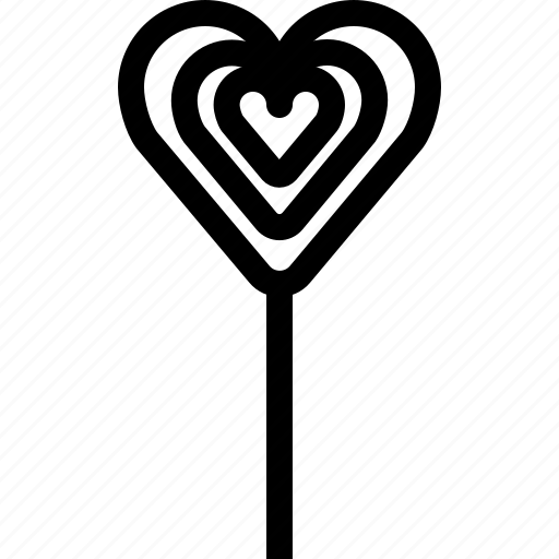 heart, lollipop, love, romance, sweet, valentine, yumminky icon