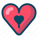 heart, keyhole, lock, love, romance, valentine icon