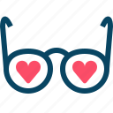 glasses, hearts, love, romance, spectacles, valentine, yumminky icon