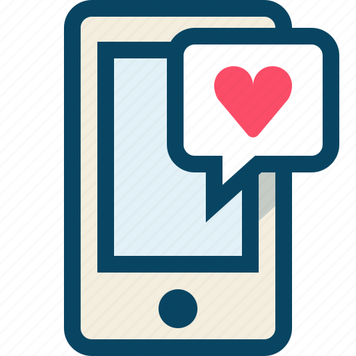 chat, love, message, romance, smartphone, valentine icon