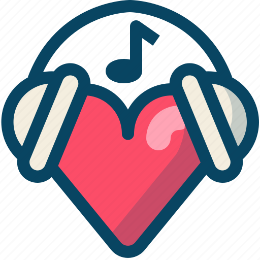 heart, love, music, romance, song, valentine, yumminky icon