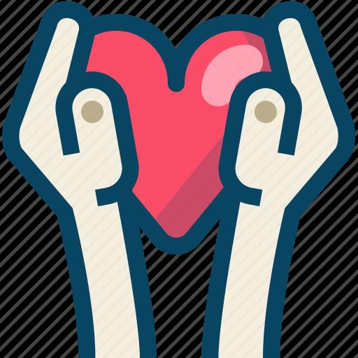 hands, heart, love, romance, thank you, valentine, yumminky icon