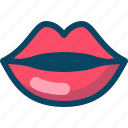 caress, kiss, lips, love, mouth, valentine, yumminky icon